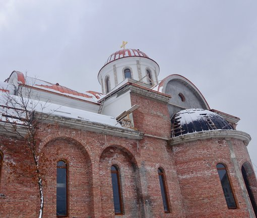 The biggest Orthodox church in Bajina Basta