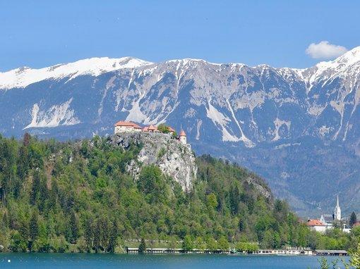 Lake Bled Castle Winter