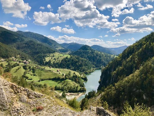 Zaovine lake in summer